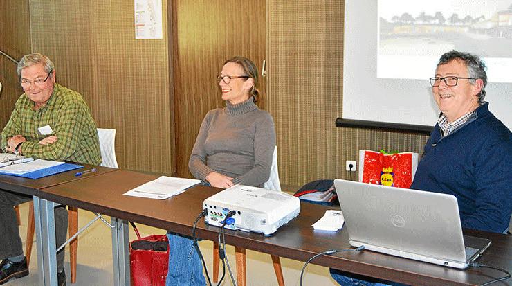 Michèle Lesage, préseidente de l'UPRB, était entourée, au bureau, de Jean-Noël Roignant, trésorier, et Christian Guyader, secrétaire.