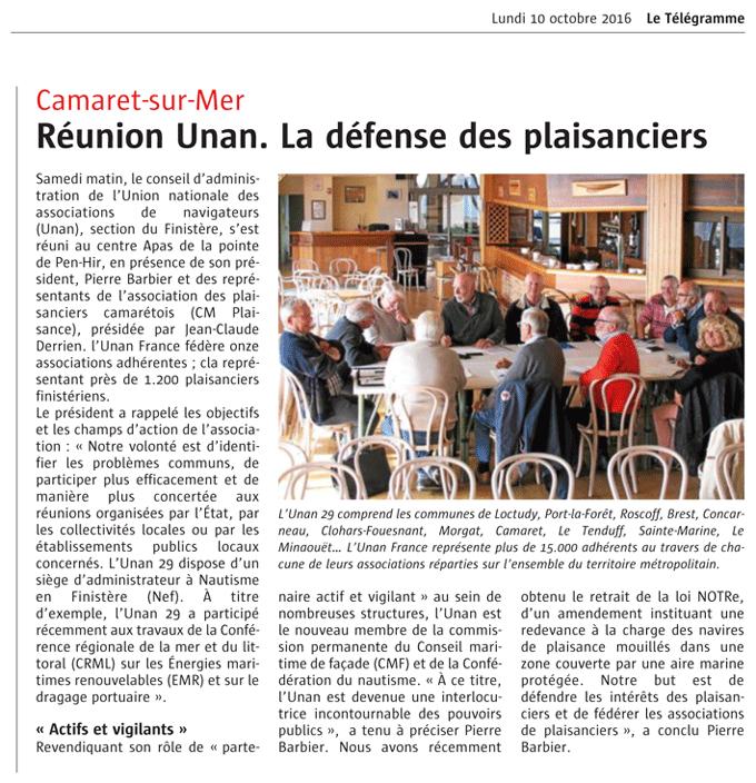 Réunion UNAN octobre 2016
